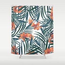 Tropical Lilies Shower Curtain