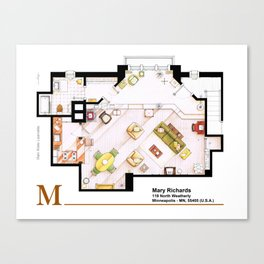 Mary Richards apt. from The Mary Tyler Moore Show Canvas Print