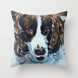 Sammie the Springer Spaniel Throw Pillow