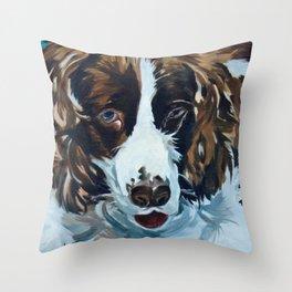 Sammie the Springer Spaniel Throw Pillow