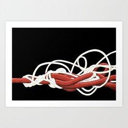 Tangles 1 Art Print