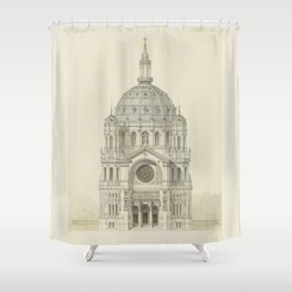 Church of St. Augustine Paris Shower Curtain