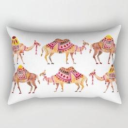 Camel Train Rectangular Pillow
