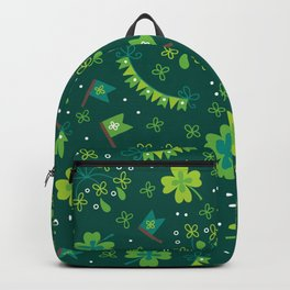 St Patrick's Day Lucky Shamrock Party Backpack