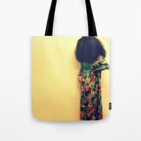 afro Tote Bags featuring Afro by 2sweet4words Designs