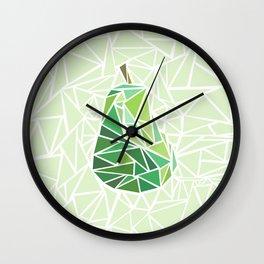 Pear geometry Wall Clock