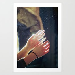 sun in their hands Art Print