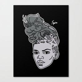 Rude Grey Canvas Print