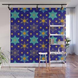 Hanukkah Holidays Star of David Contemporary Pattern Wall Mural