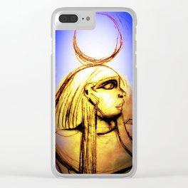 Hatshepsut Royal Blue Clear iPhone Case