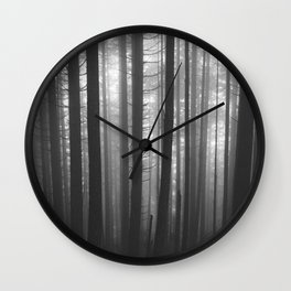 Into the Mist - BW Wall Clock