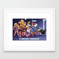 chrono trigger Framed Art Prints featuring Chrono Trigger by Robaato
