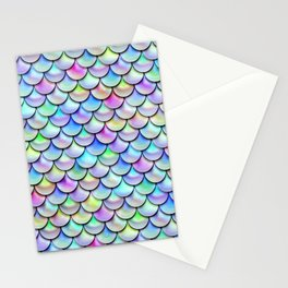 Rainbow Bubble Scales Stationery Cards