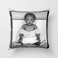 Orphan Boy Throw Pillow