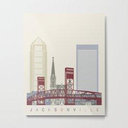 Jacksonville skyline poster Metal Print