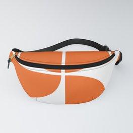 Mid Century Modern Orange Square Fanny Pack
