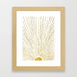 Let The Sunshine In 2 / Vertical Version Framed Art Print