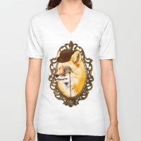 mr fox V-neck T-shirts featuring Mr Fox by mattdunne
