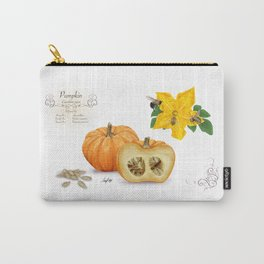 Pumpkin and Pollinators Carry-All Pouch