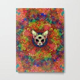 colourful cat Metal Print