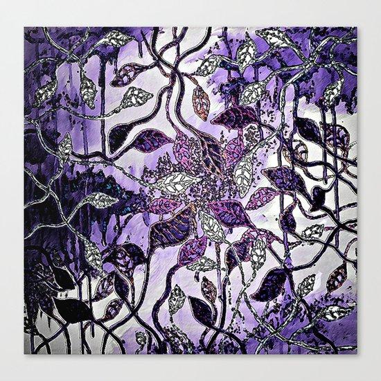 Interlaced Leaves Canvas Print
