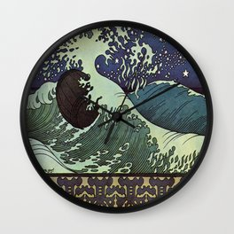 Vintage poster - Japanese Wave Wall Clock