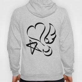 Cute Calligraphy Shapes Hoody