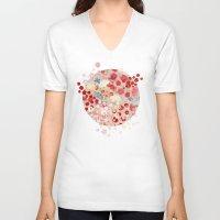 blossom V-neck T-shirts featuring Blossom by Marta Olga Klara