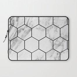 Marble hexagonal tiles - geometric beehive Laptop Sleeve