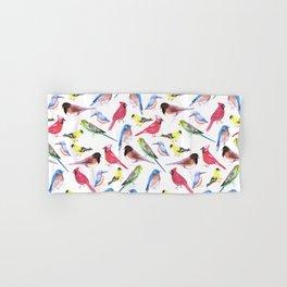 Colorful birds in tetrad color scheme Hand & Bath Towel