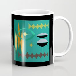 Watching The Watchers Mid Century Modern Geometric Abstract Coffee Mug