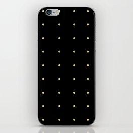 Black & Cream Polka Dots iPhone Skin