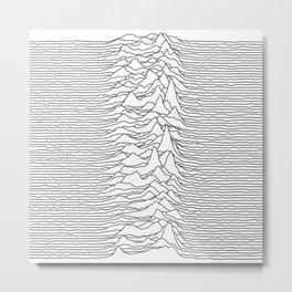 Unknown Pleasures - White Metal Print