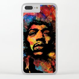 Hendrix - Vibrations Lines Clear iPhone Case