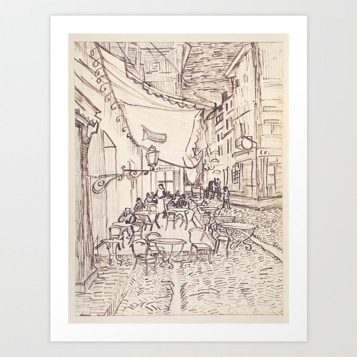 Cafe Terrace at Night (sketch) Kunstdrucke