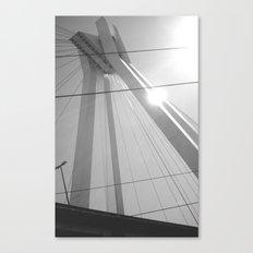 Bridge in Ludwigshafen, Germany. Canvas Print