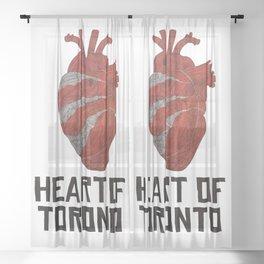 Heart of Toronto Sheer Curtain