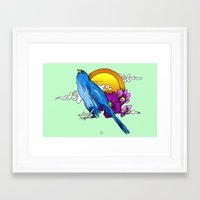 pigeon Framed Art Prints featuring Pigeon by happytunacreative