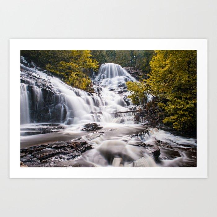 The magic Waterfalls Art Print