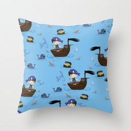 Pirate Story Throw Pillow