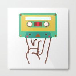 rock'n roll cassette Metal Print