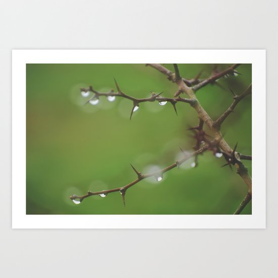 """Rain diamonds"" Art Print"