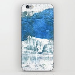 Lapis lazuli abstract watercolor iPhone Skin