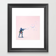 Shoot bubbles, not bullets Framed Art Print