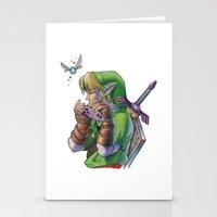 zelda Stationery Cards featuring Zelda by Melina Espinoza