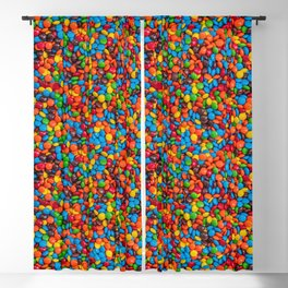 Colorful Candy-Coated Chocolate Pattern Blackout Curtain