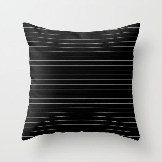 Black White Pinstripe Minimalist Throw Pillow By Beautifulhomes Society6