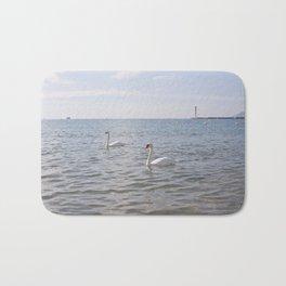 Riviera Swans Bath Mat