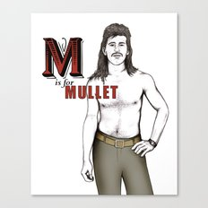 M is for Mullet Canvas Print