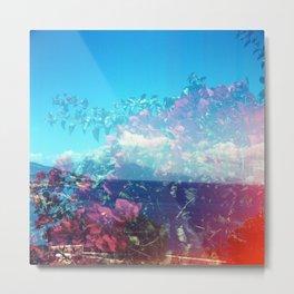 Flowers/Clouds - Zakynthos, Greece Metal Print